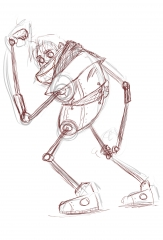 Rayman in Bioshock sketch